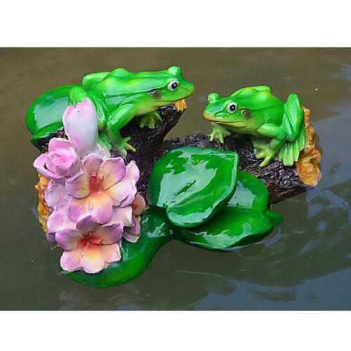 Pond Pool Water Floating Lotus Leaf Ornament Sculpture Frog Bathtub Toy B