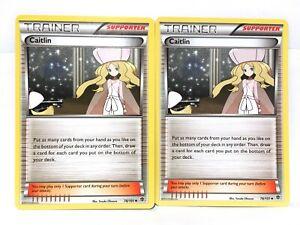 2x-Caitlin-78-101-Pokemon-B-amp-w-Plasma-Blast-Trainer-Carte-NM