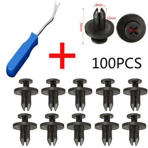 100-Car-Rivets-Body-Plastic-Push-Pin-Fasteners-Trim-Moulding-Clip-Removal-Tool