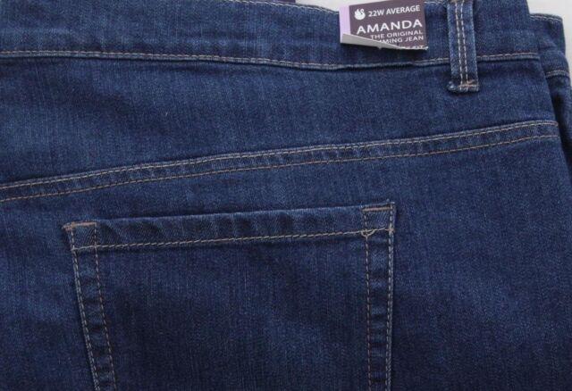 a3c97fef57f9e Gloria Vanderbilt Plus Amanda Stretch Jeans Pheonix Dark Denim 22w Short