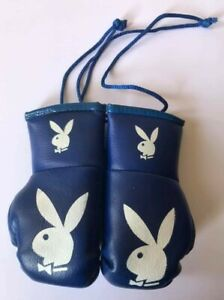 Playboy Black mini boxing gloves 4  your car mirror-Get the best Great gift.