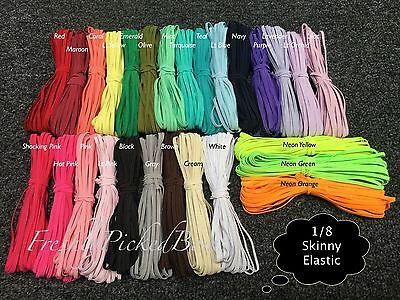 1/8 skinny elastic 10 yards of one color U CHOOSE