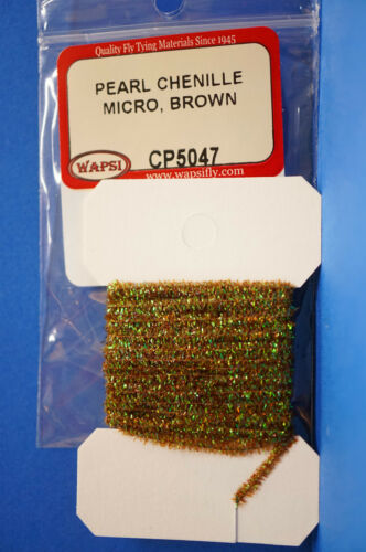 Pearl Chenille MICRO Ø 1mm x 3 Meter Wapsi USA CP5047 Micro BROWN