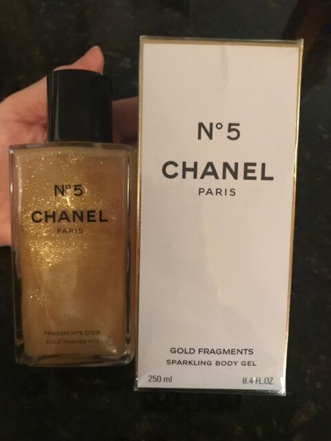 Chanel No 5 Limited Edition Perfume Gold Fragments Sparkling Body