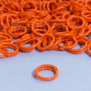 "10 Pack Spiral Chicken Poultry Leg Bands Rings - #11 11/16"" size - Orange Color"