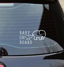 Baby On Board - Elephants - Car Decal Vinyl Sticker