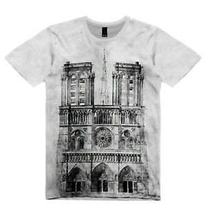 NEW-MENS-2019-NOTRE-DAME-CATHEDRAL-FAN-SUB-TEE-T-SHIRT-UK-REGULAR-FIT-SIZE