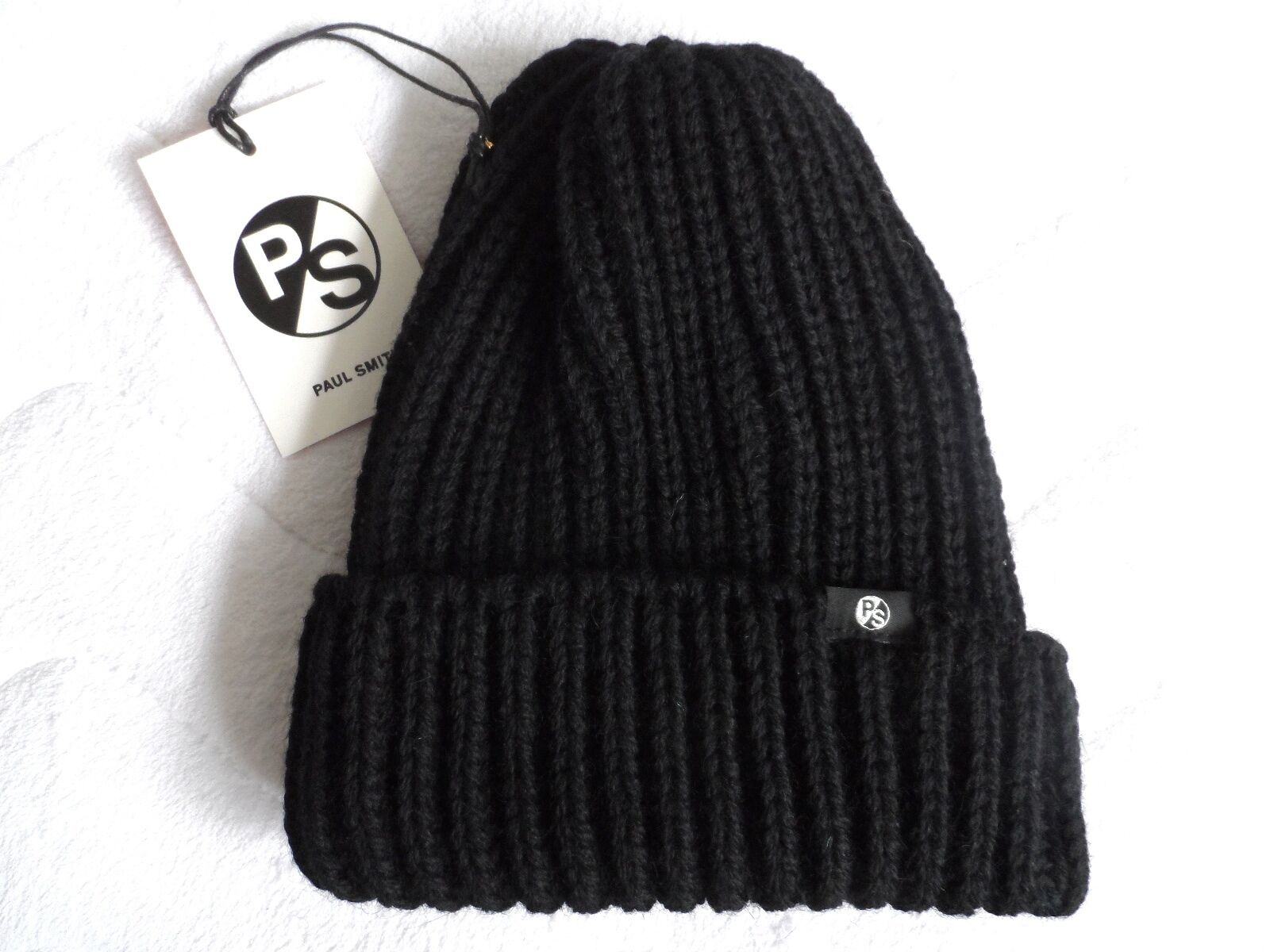 PAUL SMITH Chunky Wool Beanie Hat  Toque OSFA Unisex MADE IN ENGLAND New Tags  for your style of play at the cheapest prices