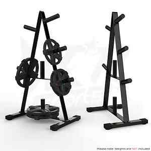 Image is loading Olympic-Weight-Plate-Tree-Rack-Stand-Storage-For-  sc 1 st  eBay & Olympic Weight Plate Tree Rack Stand Storage For 2