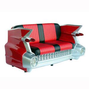CADILLAC-V8-CAR-AUTOSOFA-DINER-SOFA-COUCH-AUTO-MOBEL-USA-EINRICHTUNG-DEKO-MODELL