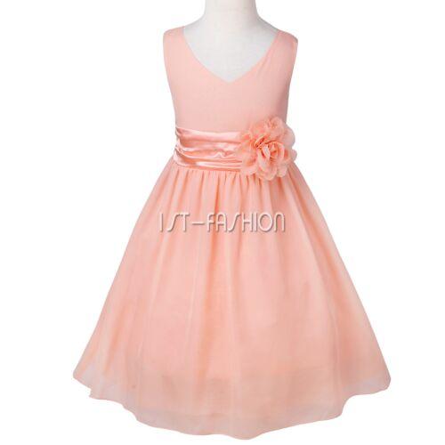 Kids Communion Party Prom Princess Pageant Bridesmaid Wedding Flower Girl Dress