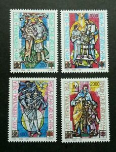 [SJ] Vatican International Year Of Family 1994 Stained Glass Window (stamp) MNH