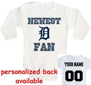 48046a8dd400b Details about Baby bodysuit Newest fan Detroit Tigers baseball One Piece  jersey personalized