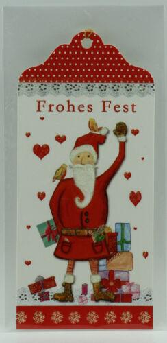 5 x Edle Geschenkanhänger Weihnachten extra lang Glückwünsche Nikolaus Grüße