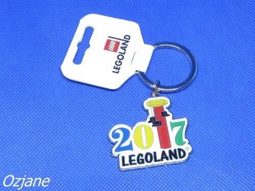 LEGO LEGOLAND WINDSOR KEYRING KEY CHAIN ENAMEL AND CHROME 2017 BRAND NEW