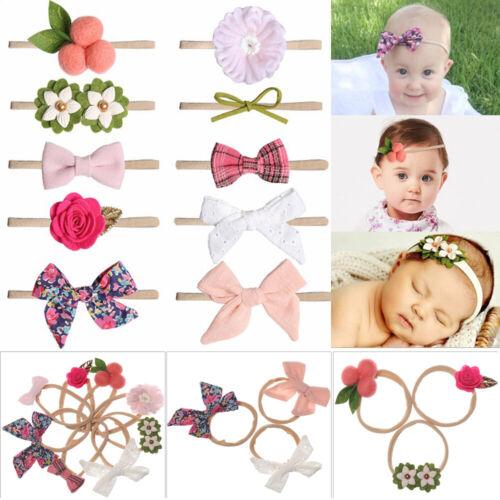 Flora Elastisch Nylon Haarband Seil für Haare Baby Headband Zubehör für Haare