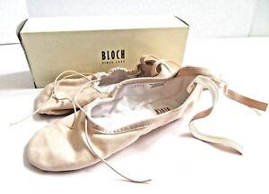 BLOCH-Canvas-Ballet-Shoes-Pink-size-4-5B-US-6-5-Narrow-Women-039-s-S0277L