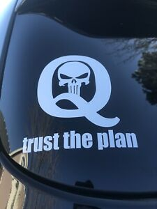 Wwg1wga Qanon Trust The Plan Punisher 5 Sticker Decal Ebay