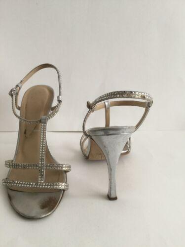 Size High Silver Cabaret Gina Sandals 1 2 5 Strappy Heel Mist Slingback gwp8O