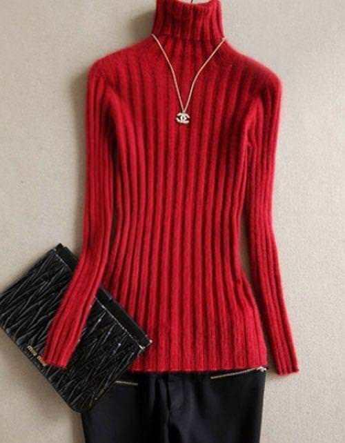 Winter Classic Warm Mink cashmere Fur sweaters elastic Long Sleeve Outwear Coat