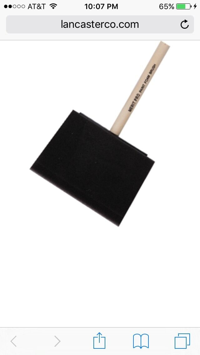 4  Foam Brush. Wood Handle Made By Merit Pro. 80 Pieces For 69.00.
