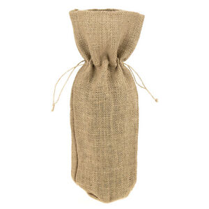 Details About Natural Fabric Wine Champagne Bottle Gift Bags 15 Inch