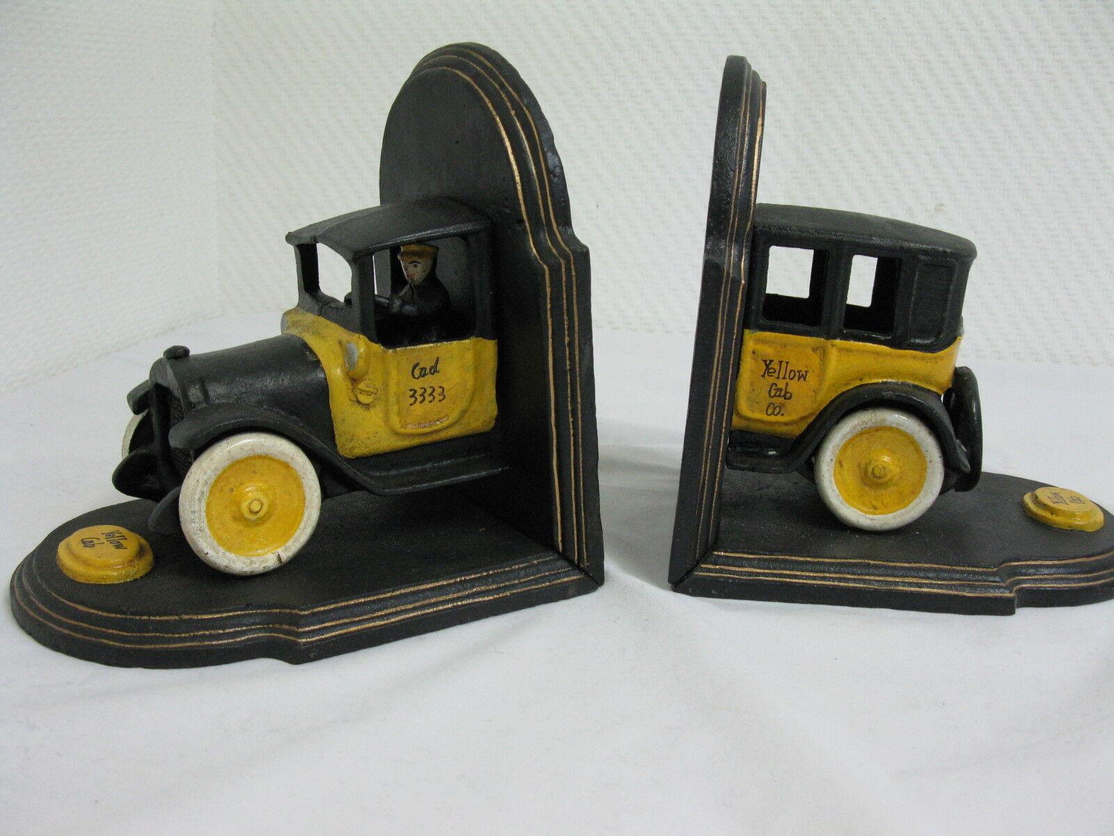 Buchstützen Set Taxi yello  Gußeisen  6 Kg Yello Cab