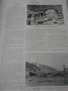 Gravure 1896 Raz De Marée Au Japon Ruines De Kamaishi