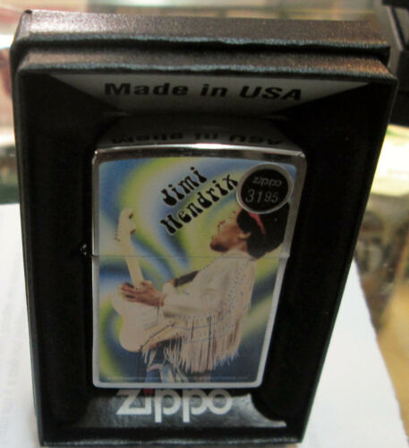 JIMI HENDRIX ZIPPO LIGHTER AUTHENTIC 2013 LICENSED ROCK N ROLL