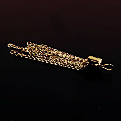 12pcs Gold Chain Tassel Pendant Necklace Earring Charms Jewelry Making DIY