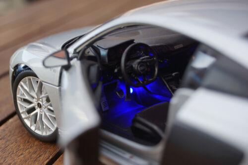 2015 AUDI r8 con illuminazione LED Xenon ARGENTO 1:18 MAISTO TUNING
