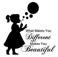 What Makes You Different Beautiful Removable Vinyl Wall Art Decal Sticker Color