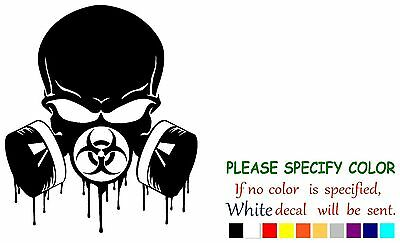 """Punisher Biohazard Skull #2 Graphic Die Cut decal sticker Car Truck Boat Wall 6/"""""""