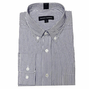 New Tricots St. Raphael Men's Blue Stripe Woven Sport Shirt Size M, L MSRP $65