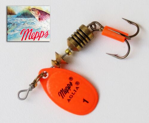 Cuiller Mepps Aglia Orange T 1 Original Spinner Cucchiaini 50 mm 3,5 grs