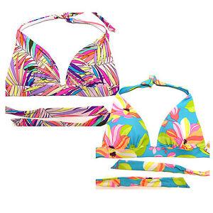 f0292f5a68 Victoria's Secret Padded Swim Top Push Up Liya Halter Bikini Bathing ...