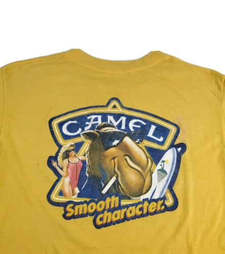 VTGJoe Camel Smooth Character Yellow Graphic Shirt