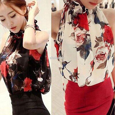 Fashion Women Summer Sleeveless Shirt Casual Blouse Loose Chiffon Tops T Shirt F