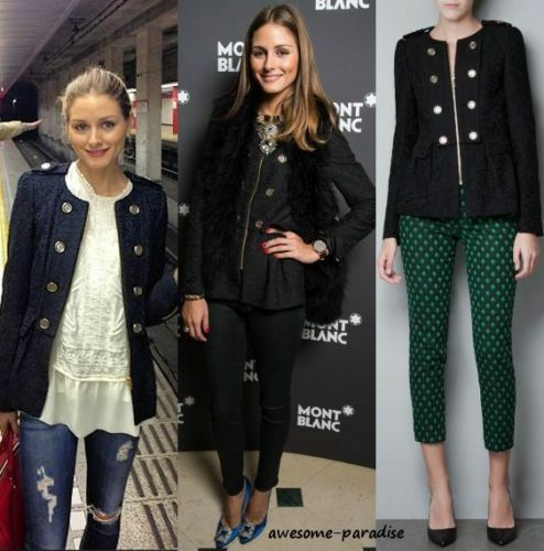 en Blazer jersey Extra jacquard plis petit Xs Black à Scroll brodé Zara Veste 3Ajq54RL