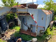 Blue Tandem Axle Compacting Trailer Tandem Axle Goosenck With Pump And Tipper