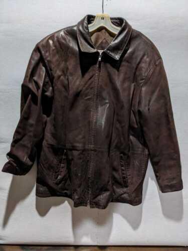 Vintage Remy Dark Brown Mens Leather Jacket Size 4