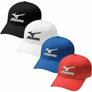 9ba0483f62f 50% OFF Mizuno Tour Fitted Mens Performance Hat Stretch-Fit Golf Cap ...