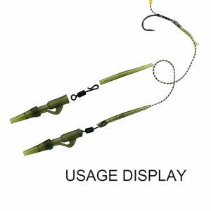 40pcs Fishing Tackle Carp lead clips Quick Change swivels Anti Tangle Sleeves