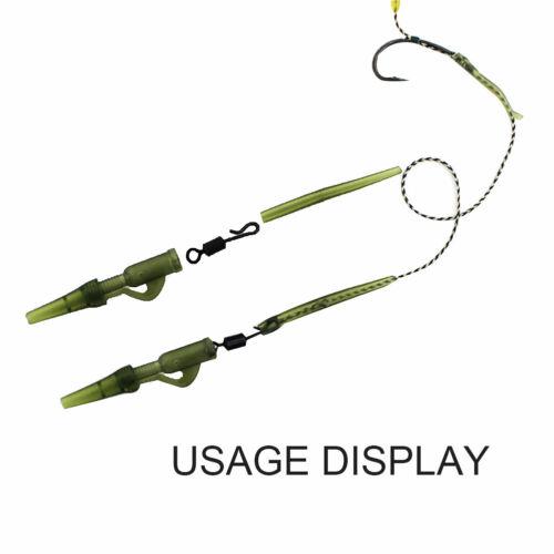 AU/_ 40Pcs Carp Fishing Anti-Tangle Sleeves Swivels Lead Clips Tail Tubes Kit Dur