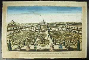 View-Perspective-a-Palace-in-Madrid-Spain-Espana-Palacio-c1770-Engraving-18th