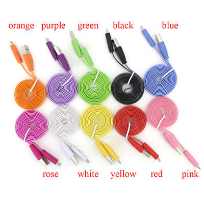 Visible micro light up led charger data sync cable for android phoneBLUS