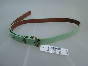 NWT-Madewell-New-Women-Slim-Patent-leather-Belt-Size-XS-S-M-L