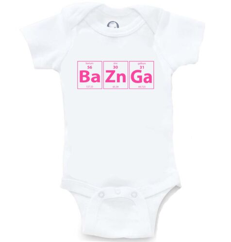 Bazinga Funny Periodic Table Big Bang Onesie Cute Baby Shower Gift Creeper