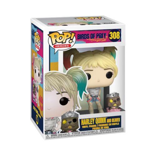 Harley Quinn and Beaver POP Heroes Vinyl Figure Funko #308 DC Birds of Prey