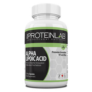 Ala Antioxydant Capsules Alpha Lipoic Acid La Protéine Lab-afficher Le Titre D'origine Garantie 100%
